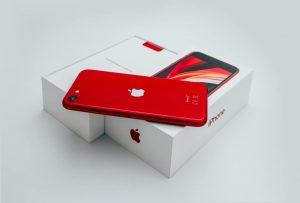 czerwony iPhone